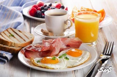 عضله سازی پروتئین در صبحانه بیشتر است یا شام؟